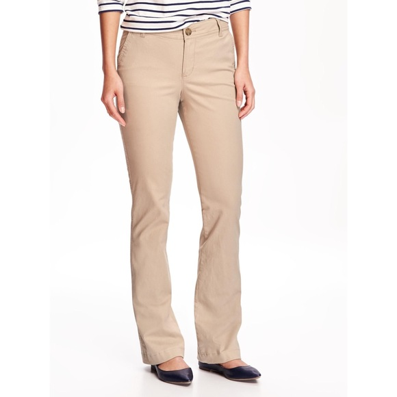 search for official soft and light wholesale Old Navy Women's Khaki Bootcut Pants